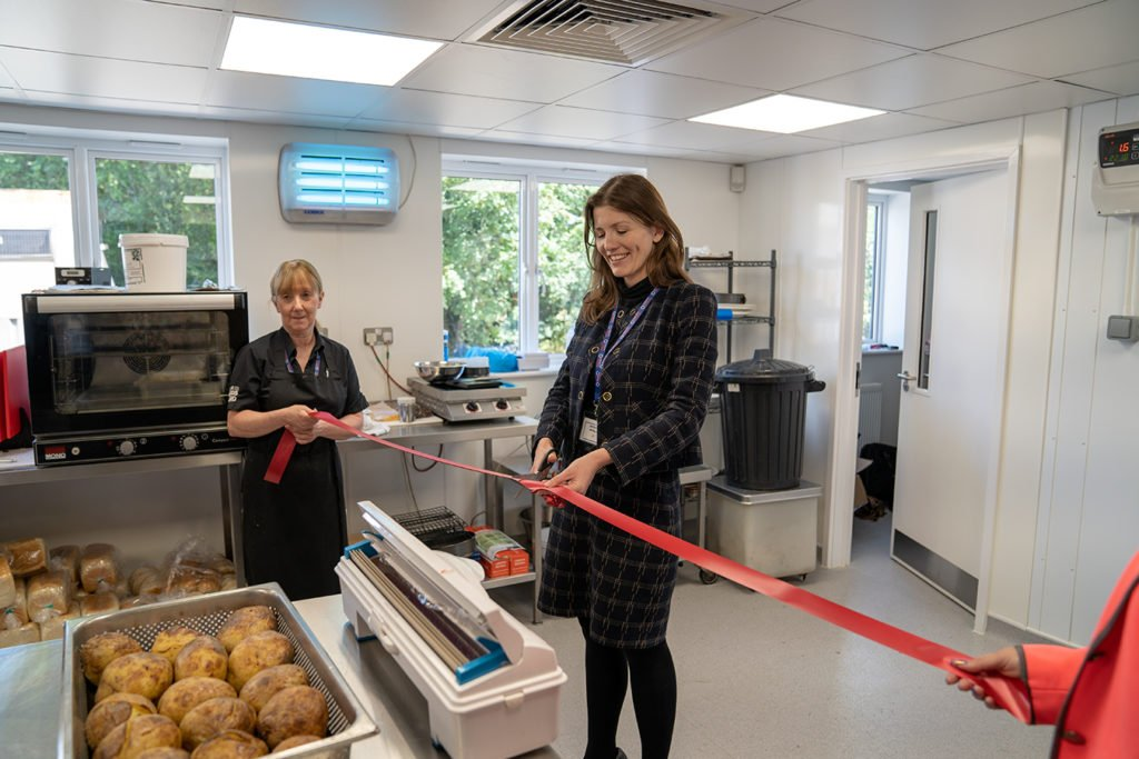 Chippenham Pit Stop new kitchen opening by MP Michelle Donelan