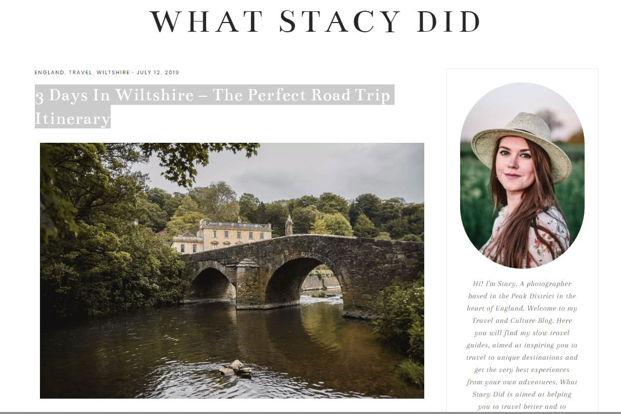 What Stacy Did blog post on 'THe Perfect 3 day road trip in Wiltshire - featuring Chippenham Pit Stop
