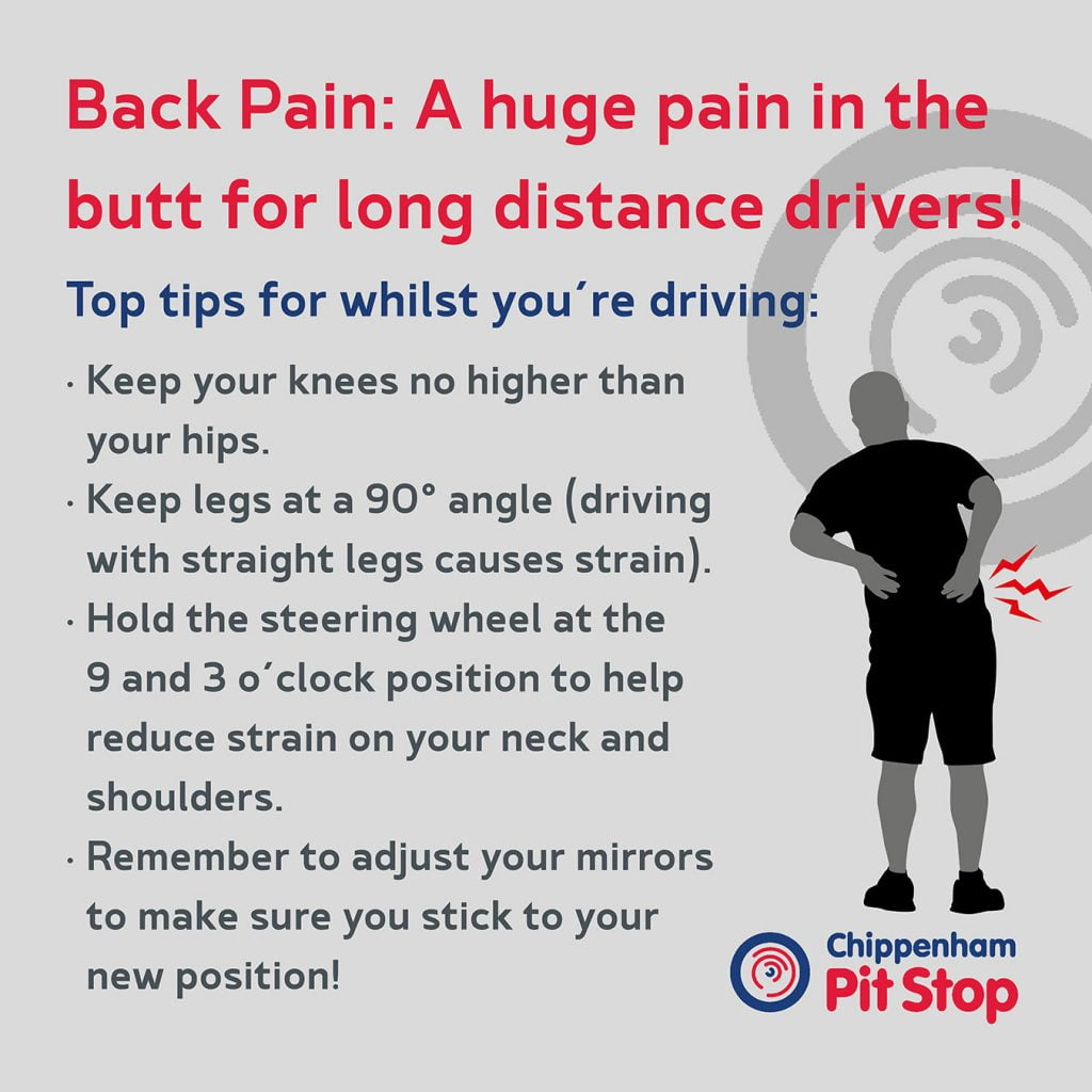 Tips for preventing or easing back pain for drivers
