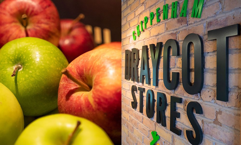 Healthy fruit and snacks at Draycot Stores, Chippenham Pit Stop