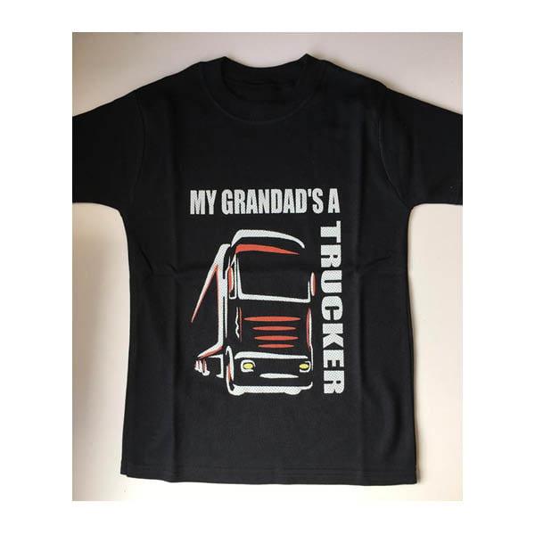 Grandad tshirt black