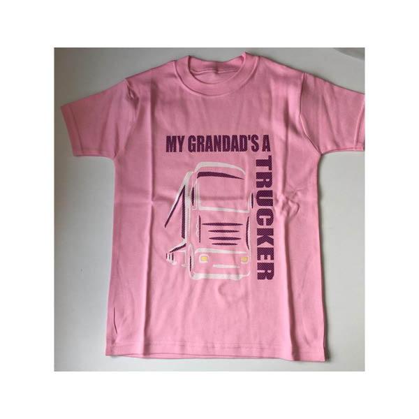 Grandad tshirt pink
