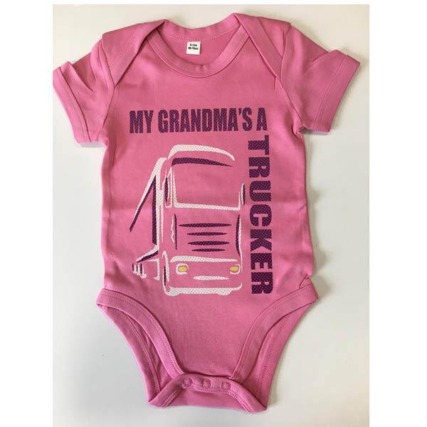 Grandma romper pink