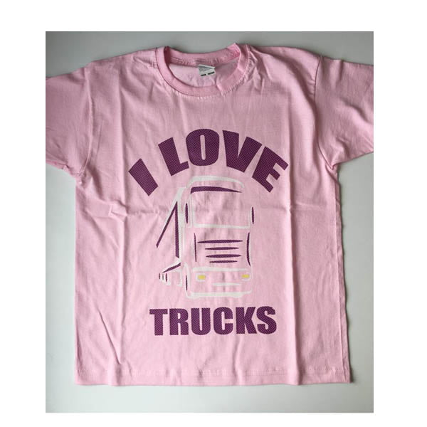 I love trucks tshirt pink