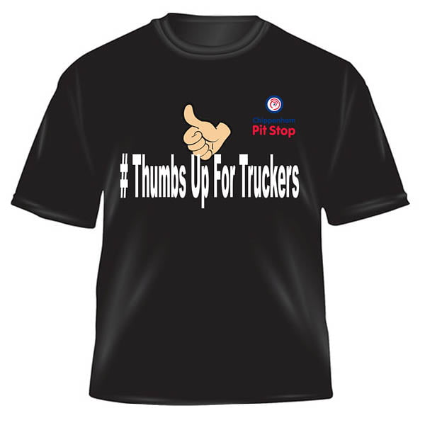 Thumbs up t-shirt front